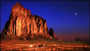 shiprock__new_mexico___sunrise_by_kimjew